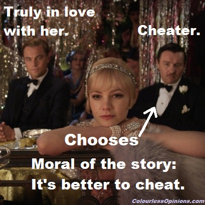 Quote from the great gatsby about tom cheating on daisy