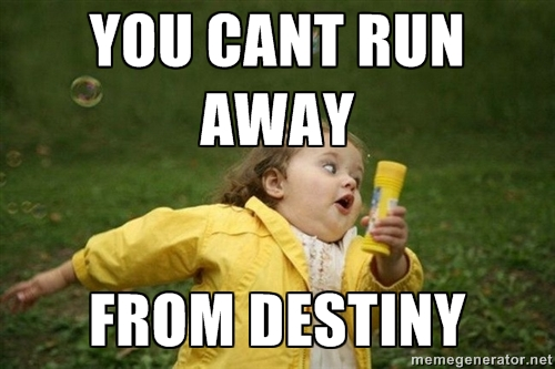 RUNNING AWAY MEME GENERATOR image memes at relatably.com