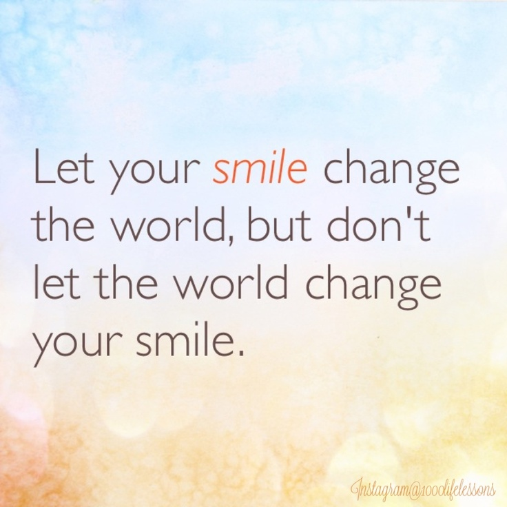 Best Smile In The World Quotes: CHANGE THE WORLD QUOTES PINTEREST Image Quotes At