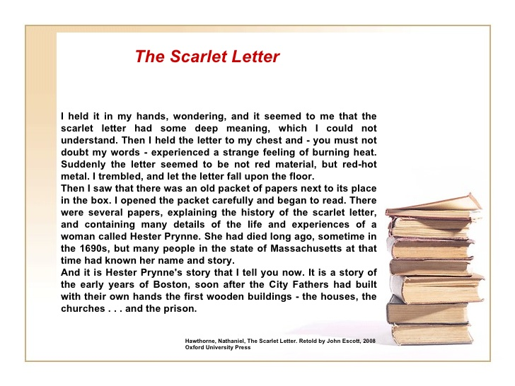 romanticism the scarlet letter As you read through the scarlet letter, compile a reading log instructions for the reading logs are linked below pay close attention to all.