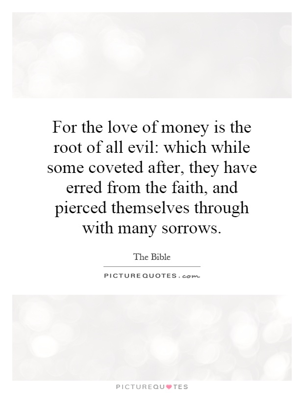 love money root all evil essay