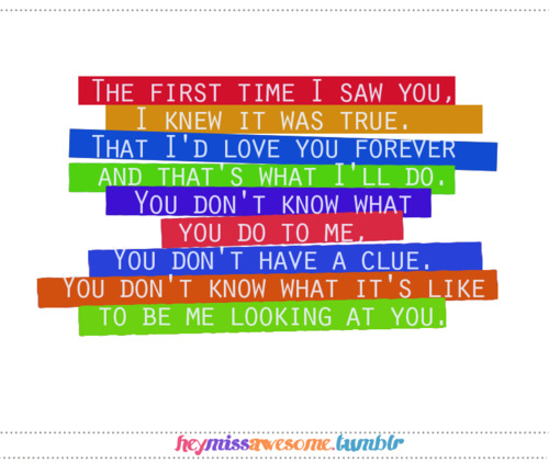 First Time Quotes: FIRST TIME I SAW YOU QUOTES TUMBLR Image Quotes At