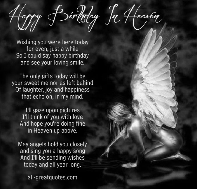 HAPPY BIRTHDAY QUOTES FOR BROTHER IN HEAVEN image quotes ...