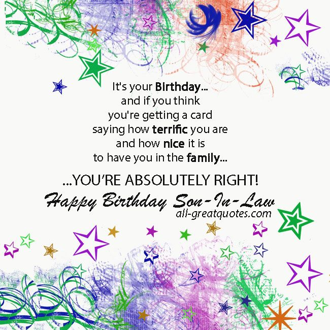 HAPPY BIRTHDAY QUOTES FOR SON IN LAW Image Quotes At Relatably.com