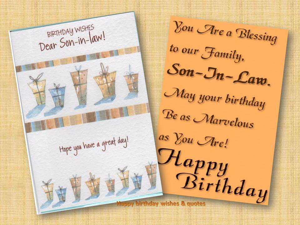 HAPPY BIRTHDAY QUOTES FOR SON IN LAW Image Quotes At