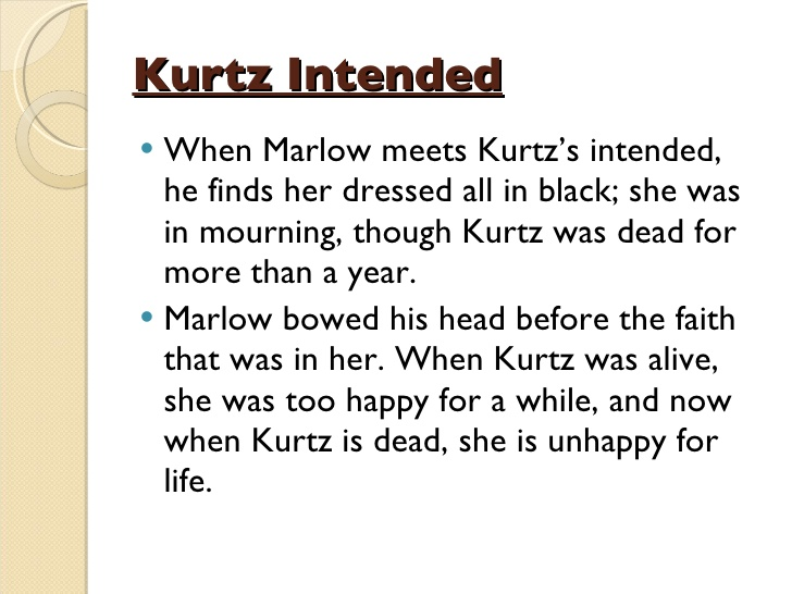 """marlow and kurtz's transformation as a Find free feminism essays, term papers  the transformation of nora helmer kurtzs mistress, and kurtzs intended marlow mentions these female characters in."