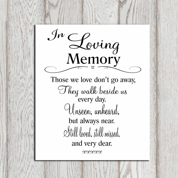 Quotes For Memory: IN LOVING MEMORY QUOTES FOR WEDDING Image Quotes At