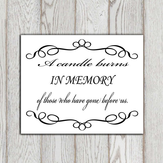 Quotes For Memory: The Gallery For --> In Memory Of Quotes For Wedding