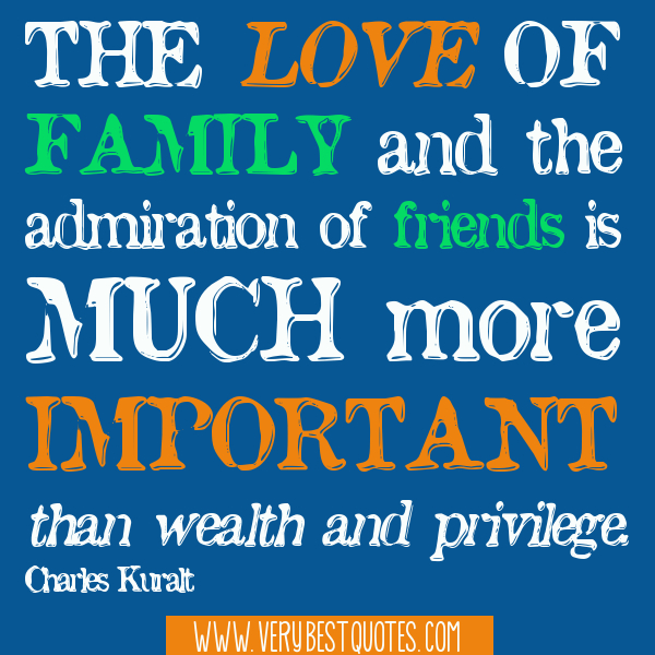 inspirational quotes about family friends and love image