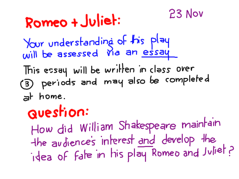 Romeo And Juliet Thesis Statement Mr Thomas English Romeo And FC Romeo And  Juliet Thesis Statement