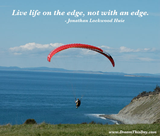 LIVE LIFE ON THE EDGE FUNNY QUOTES image quotes at ...
