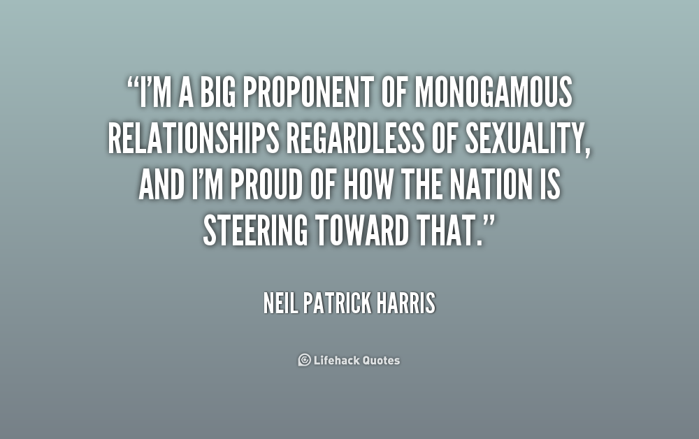 a monogamous relationship and