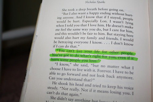 There is a time for everything… | innocent daydreamer |Nicholas Sparks Movie Quotes Tumblr