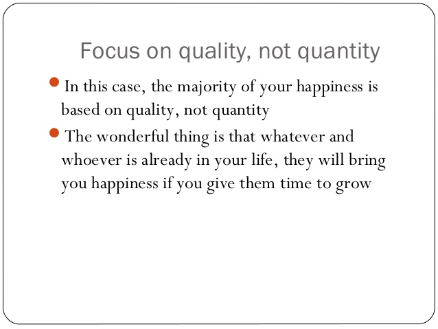 Quality Of Life Essay