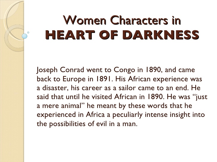 the darkness of mans heart essay Free essay: marlow and kurtz in heart of darkness the main character in conrad's novel, heart of darkness, iskurtz kurtz no longer obeys the authority of.