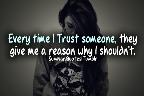 sad relationship trust quotes tumblr