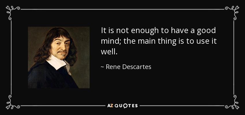 rene descartes and the issue on the existence of god Logical demonstrations as possibly fallacious, and waking thoughts as perhaps no better than dreams, he yet remained convinced of his own existence as a.