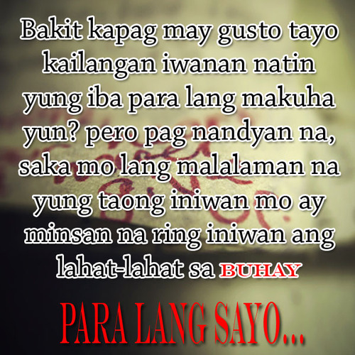 SAD LOVE QUOTES TUMBLR TAGALOG image quotes at relatably.com