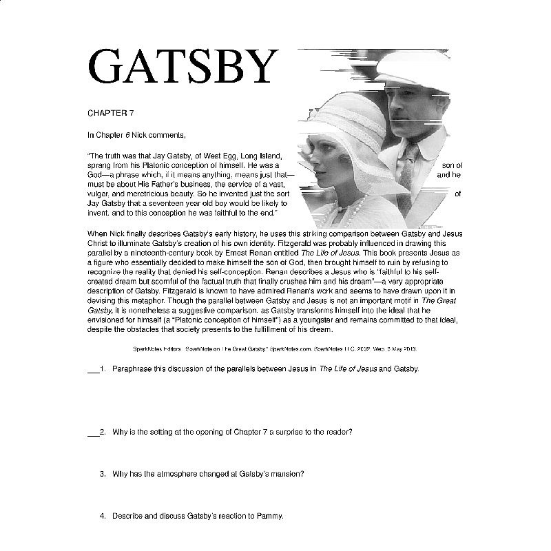 comparison between great gatsby and sonnets This unit explores the contextual connections between the great gatsby and sonnets from the portuguese and the great comparative study of texts and.