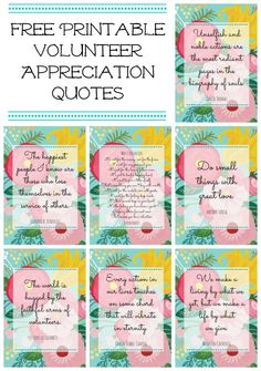 VOLUNTEER APPRECIATION QUOTES SAYINGS OF THANKS FOR ...